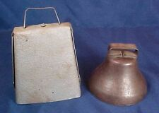 2 Vintage Bells Cow Bell Small Metal Bell with Handle