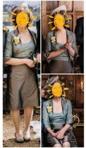 Linea Raffaelli Mother of the Bride 3 Piece Ladies Women's Wedding Outfit UK 12
