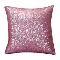 Solid Farbe Glitter Pailletten Kissen Home Decor Kissen Fall (Rosa) U8S5