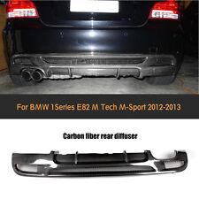 Carbon Fiber Rear Bumper Lip Diffuser Fit For BMW  E82 125i 128i M Tech M Sport