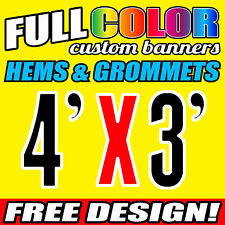 Personalised Outdoor Vinyl Banner Sign - 1219 MM x 914 MM- Custom Made