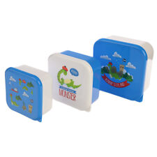 Nessie Loch Ness Scottish Icons Saltire Set of 3 Plastic Stacking Lunch Boxes