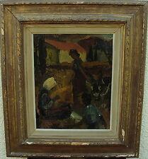 Owe Wessbohn 1913-2003, Schüler von Fernand Léger, Dorfszene mit Esel, dat 1952
