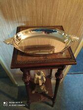 Plat Creux Ovale à Oreilles de Style Louis XV Métal Argenté