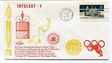 1972 Intelsat 4 Nixon's China Visit Apollo 16 Cape Canaveral Florida Space Cover