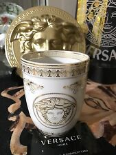 VERSACE MEDUSA GOLD CUP VASE BATH OFFICE SALON  Rosenthal Retired