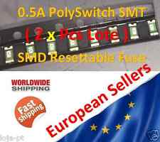 2x Unit - 0.5A 0.5 Amp 500mA PolySwitch 1206 SMT SMD Resettable Fuse - Fast Ship