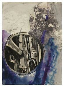 Aliza Nahor: Collage & Steering Wheel 1972/ Israeli Jewish German  Modern Cars