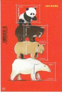 France Block 244 Bears (MNH)