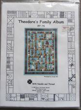"NEEDLE & THREAD QUILT PATTERN,  ""THEODORE'S FAMILY ALBUM"", 72""X96 TWIN COMFORTER"