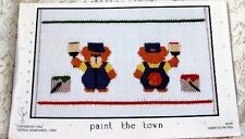 ~ NEW LITTLE MEMORIES PAINT THE TOWN SMOCKING DESIGN PLATE ADORABLE BEARS  ~