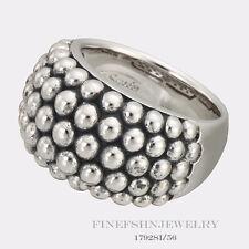 Authentic Ti Sento Milano Silver 5 Row Beaded Dome Ring Size 7.5  56  1792SI/56