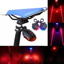 Luz trasera de la cola de la bicicleta del LED 2 láser +5 LED parpadeante bicicl