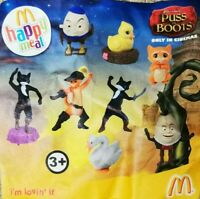 McDonalds Happy Meal Toy 2011 UK Puss In Boots Character Plastic Toys - Various