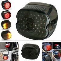 Tail Light Brake Turn Signal Smoke Lens For Harley Tour Road King Glide Dyna LED