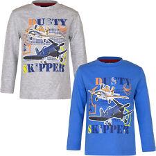 Camisa Manga Larga Niños Camiseta Planes Jersey Azul Gris 98 104 116 128 #99
