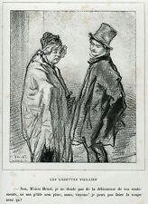 Gavarni: Masques et Visages.41. Maschere e Volti.Caricatura.Umorismo.Satira.1857