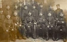WWI Org Vintage German RPPC- Soldier- Group Photo- Uniform- Braid- Ribbon- Badge