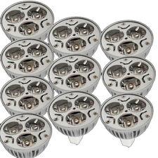 10X New MR16 GU5.3 3x 1W 3W 12V Warm White 3500K 3 LED Spot Light Bulb Lamp
