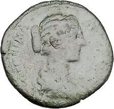 CRISPINA daughter in law of  Marcus Aurelius Big Ancient Roman Coin i45662