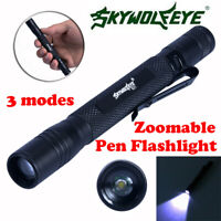 Mini LED Super Bright Flashlight Medical Pen Light Small Torch Lamp Zoomable