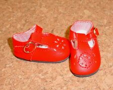 Doll Shoes RED 44mm T-Straps for Ellowyne, Patience & NuMood