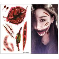 24pc/set Halloween Waterproof Simulation Horror Scar Tattoo Sticker Dressup Hot
