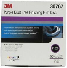 3M 30767 Hookit Purple 6 Inch P1500 Grit Dust-Free Finishing Film Disc