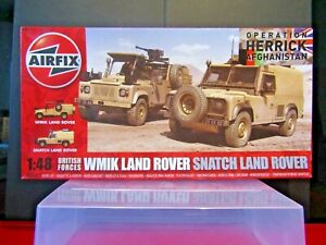 Airfix 1:48 Operation Afghanistan WMIK Land Rover & Snatch Land Rover Herrick
