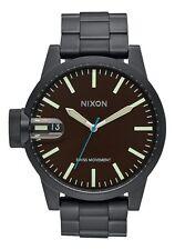 **BRAND NEW** NIXON WATCH THE CHRONICLE SS ALL BLACK / BROWN A198712 NIB!