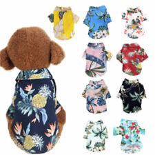 Hawaii Beach Casual Printed Dog Vest T-Shirt Summer Dog Clothes Pet Travel Shirt