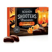 """Box Sweets ROSHEN """"Shooters"""" Chocolate Candy with Tequila Sunrise Liqueur 150g"""