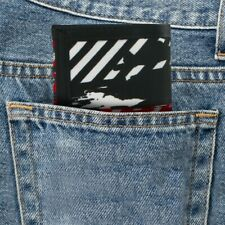 Trifold Splatter and Stripes Canvas Wallet