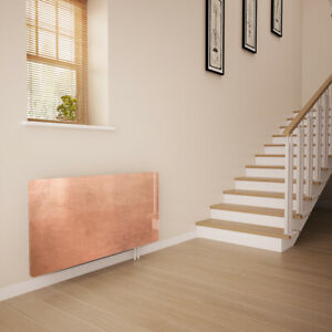 Glass Radiator Cover Printed - Distressed Copper - Made By Premier Range