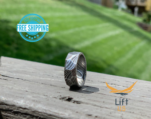 Handmade Damascus Steel Ring for Men Jewelry Engagement Wedding Band Fancy Ring