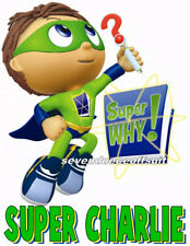 NEW CUSTOM PERSONALIZED SUPER WHY WYATT T SHIRT PARTY FAVOR BIRTHDAY GIFT