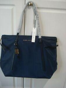 Marc Jacobs M0013607-415 Zip Tote Women's Navy Bag Nylon Gold Tone Large New