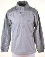 ADIDAS Mens Pullover Jacket Size 38 Medium Grey Polyester  LR07