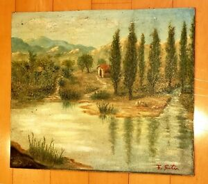 FRANCISCO GOITIA (1884-1960)  OIL ON CANVAS SIGNED PAINTING