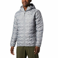 *Men's Columbia DELTA RIDGE Hooded Down Jacket NWT MEDIUM $160 GREY HEATHER