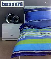 4 teilig Bassetti Bettwäsche Set blau 100% Baumwolle 135 / 140 cm x 200 cm Satin