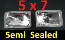 2x 5x7 Semi Sealed H4 Beam Lights Ford Cortina Courier Econovan Escort F100 F150