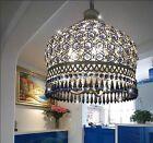 Modern Blue Crystal Ceiling Light Pendant Lamp Fixture Lighting Chandelier Brand