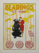 Bearings Magazine original 1896 vintage poster by Cox  cycling  bicycle