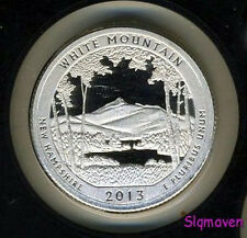2013 S 90% Silver White Mountain-NH America the Beautiful Gem Proof No Reserve