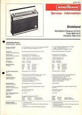 Nordmende original Service Manual para dixieland 9.114c