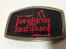 Foreigner Vintage Belt Buckle Band Vintage 70's Rock Band Classic Rock