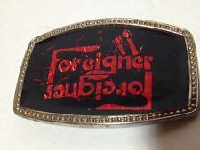 Foreigner Vintage Belt Buckle Band Vintage 70's Rock Band Classic Rock