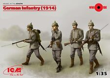 ICM @@ GERMAN INFANTRY 1914 - 4 fig WWI with weapons and equipement @@ 1/35