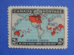 #86B MH (with gum marks)  well-centred 2c black, Imperial Penny Postage  CV=$60.
